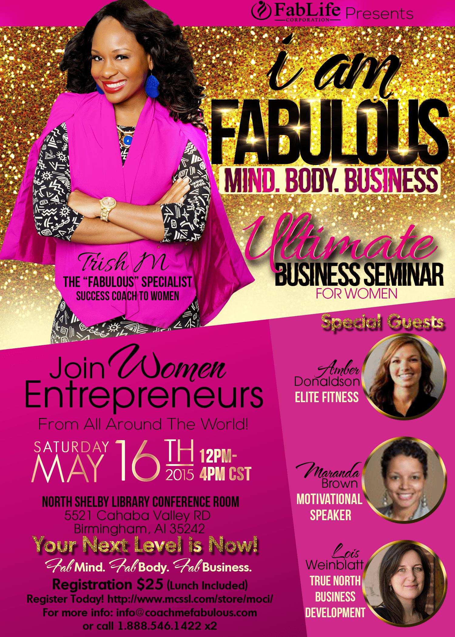 flyer i am fabulous business seminar may 2015 see jane write