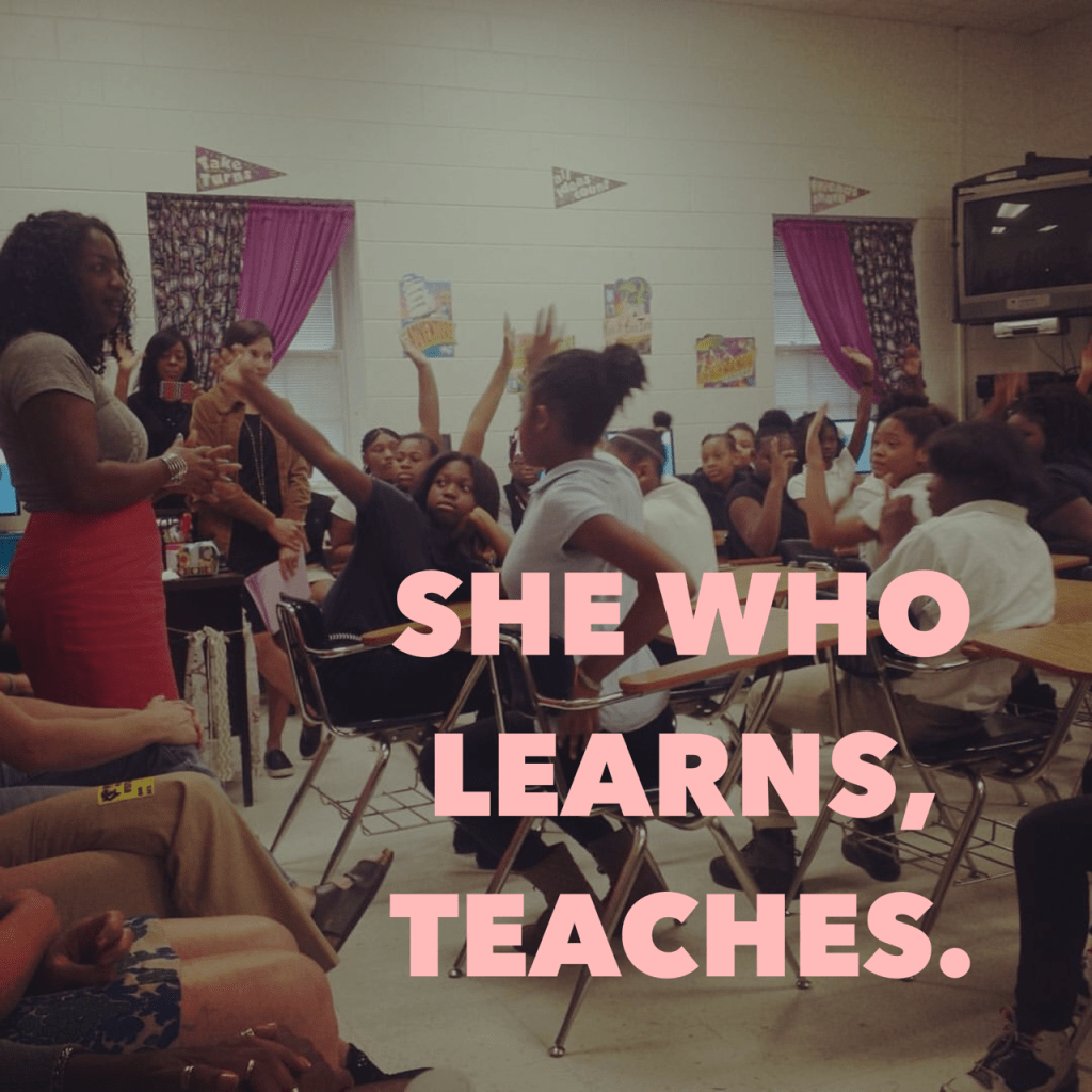 she who learns teaches 2