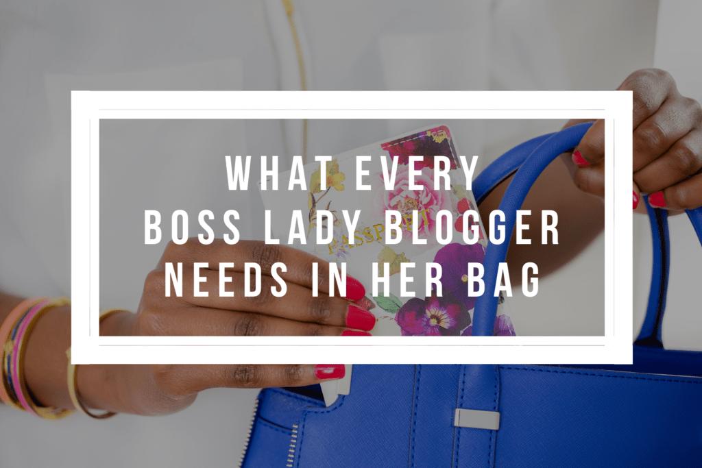 boss lady blogger bag
